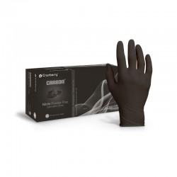 Manusi examinare nitril Carbon black size L 100 bucati Cranberry