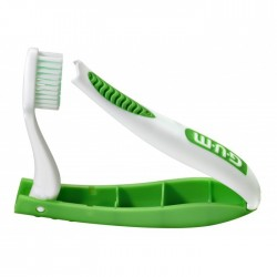 Четка за зъби Gum Travel Brush Soft Antibacterial Coated Green