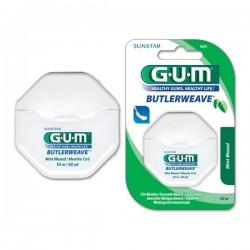 Конец за зъби с восък Gum Butlerweave Mint 55m